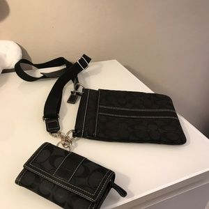 Coach Crossbody Messenger Bag and Matching Wallet